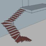лестница п образная 3 маршевая с забежными ступенями