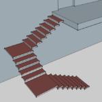 виды лестниц - п образная трехмаршевая