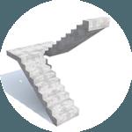 виды лестниц - п образная с площадкой
