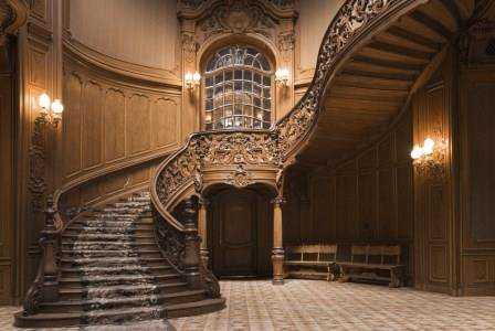 лестницы из дуба-на-второй-этаж-из дуба