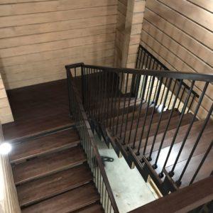 Комбинированная лестница производство и монтаж