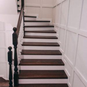 Лестница из цельноламельного бука (э)