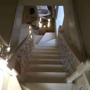 Фото деревянной г образной лестницы